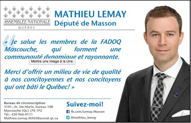Mathieu Lemay Député
